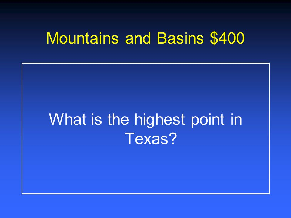What is the highest point in Texas