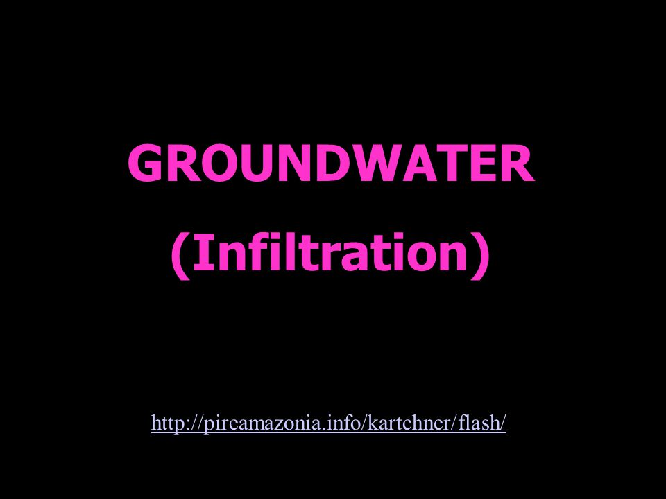 GROUNDWATER (Infiltration)