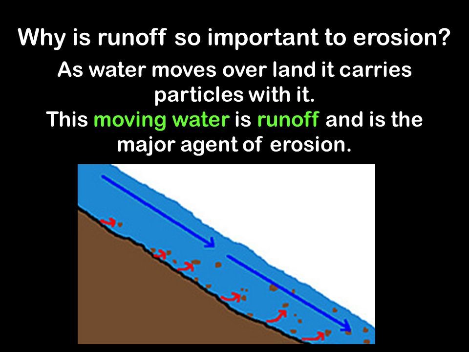 Why is runoff so important to erosion