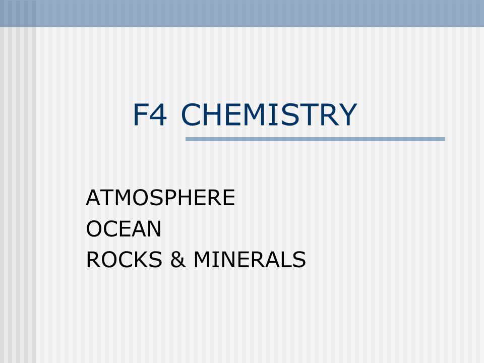 ATMOSPHERE OCEAN ROCKS & MINERALS