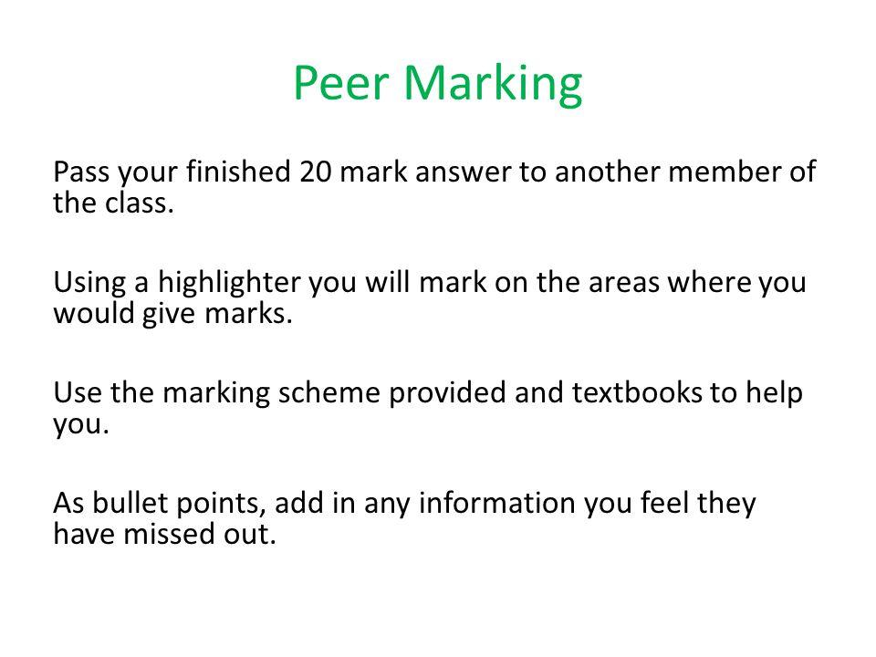 Peer Marking
