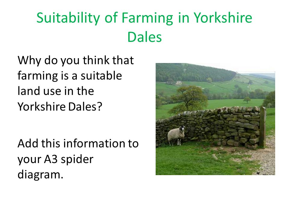 Suitability of Farming in Yorkshire Dales
