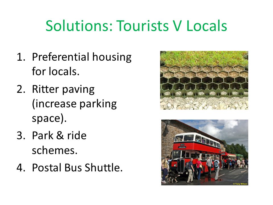 Solutions: Tourists V Locals