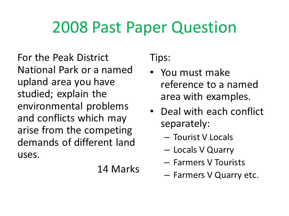 2008 Past Paper Question