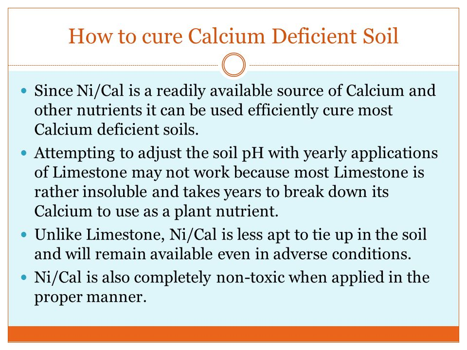 How to cure Calcium Deficient Soil