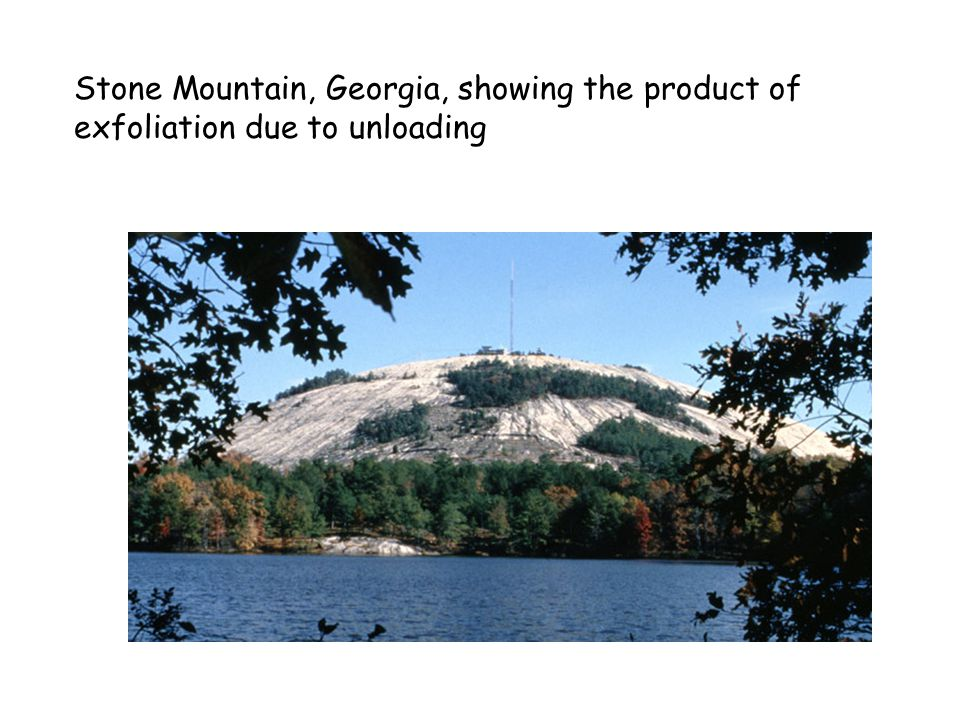 Stone Mountain, Georgia, showing the product of exfoliation due to unloading