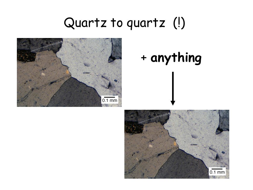 Quartz to quartz (!) + anything