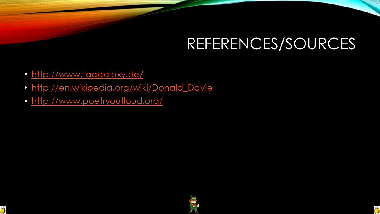 References/Sources http://www.taggalaxy.de/
