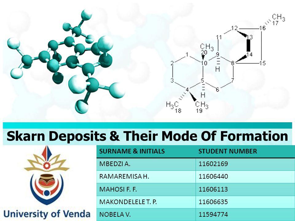 Skarn Deposits & Their Mode Of Formation