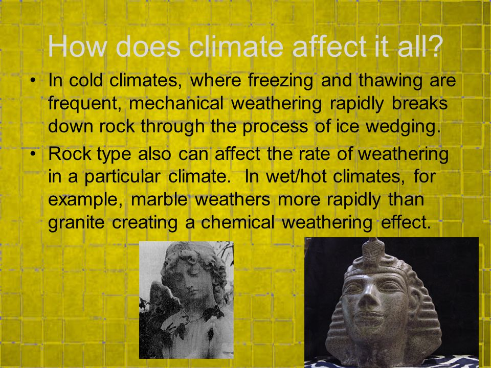 How does climate affect it all