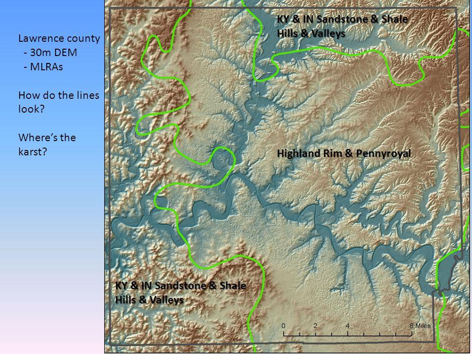 KY & IN Sandstone & Shale Hills & Valleys