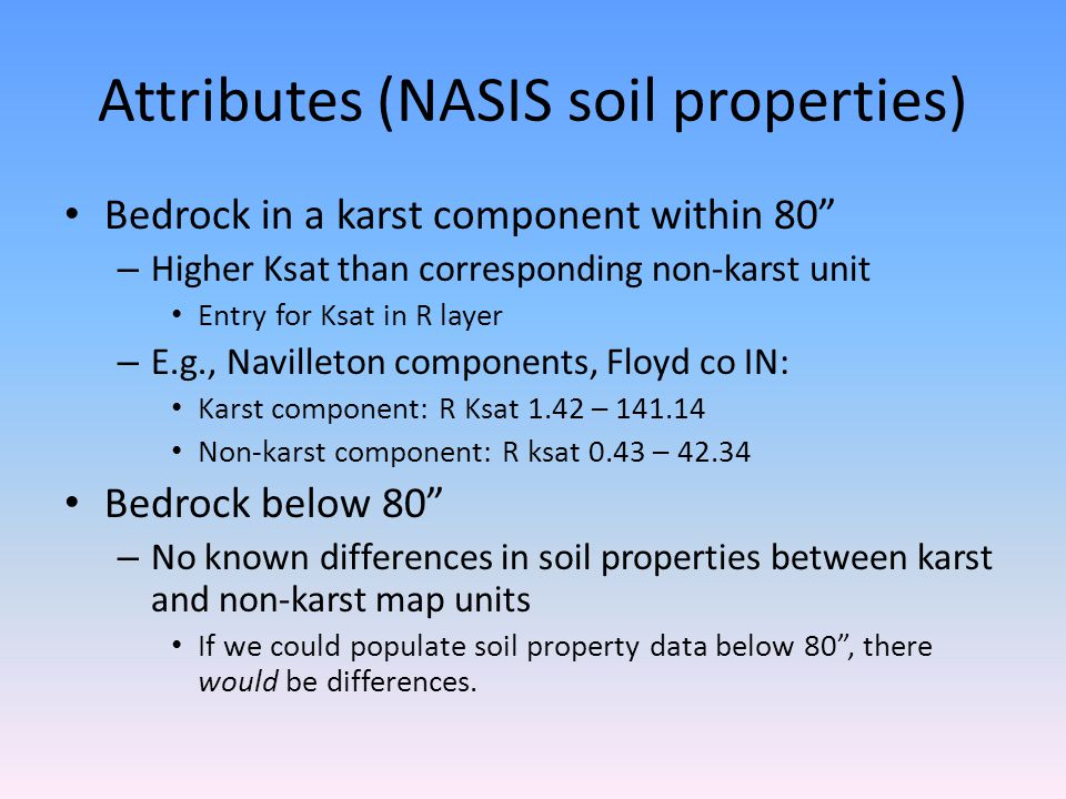 Attributes (NASIS soil properties)