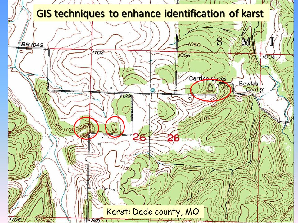 GIS techniques to enhance identification of karst