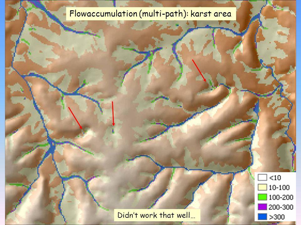 Flowaccumulation (multi-path): karst area