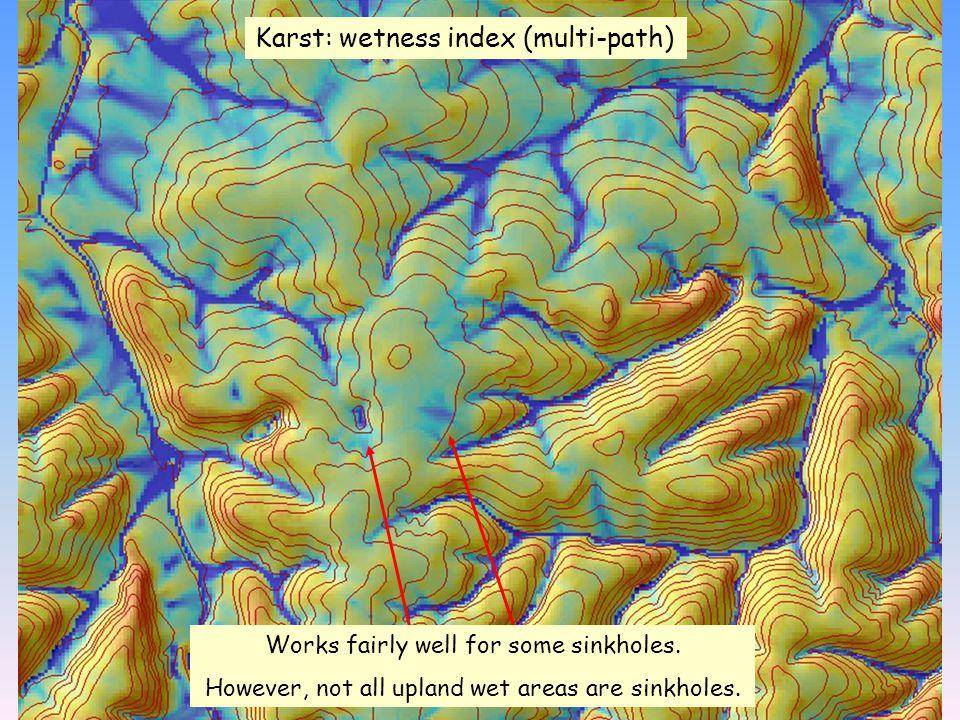 Karst: wetness index (multi-path)
