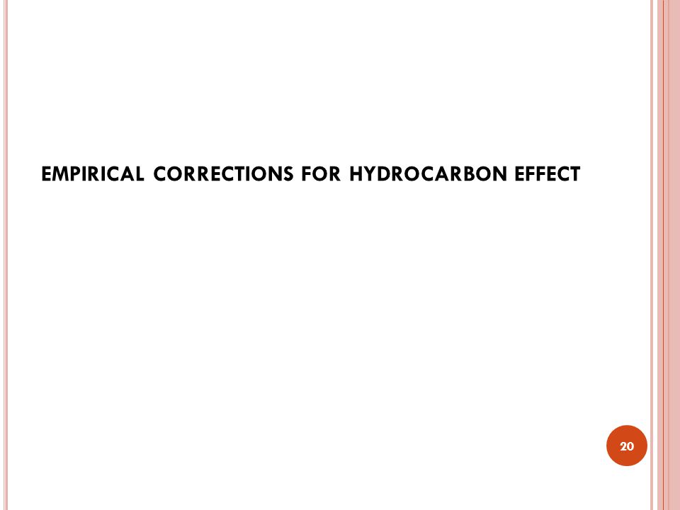 empirical corrections for hydrocarbon effect