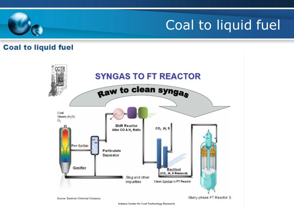 Coal to liquid fuel Coal to liquid fuel