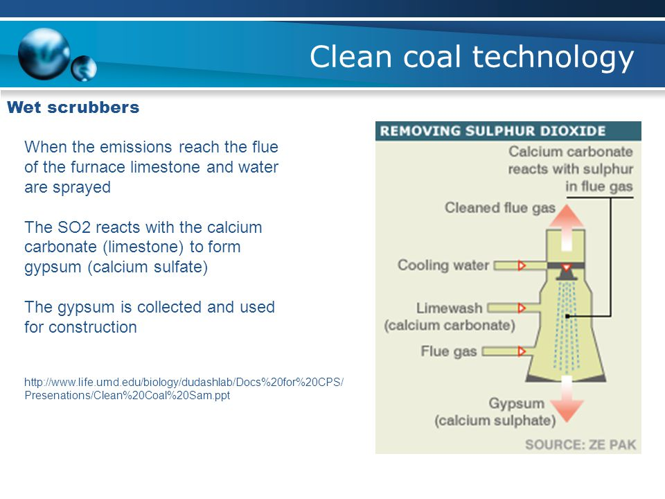 Clean coal technology Wet scrubbers