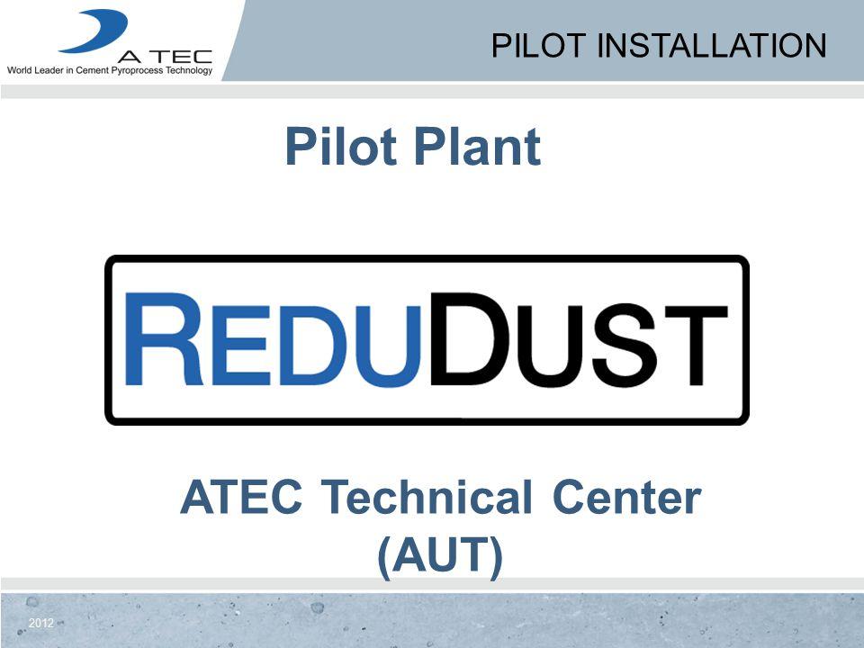 Pilot Installation Pilot Plant ATEC Technical Center (AUT)