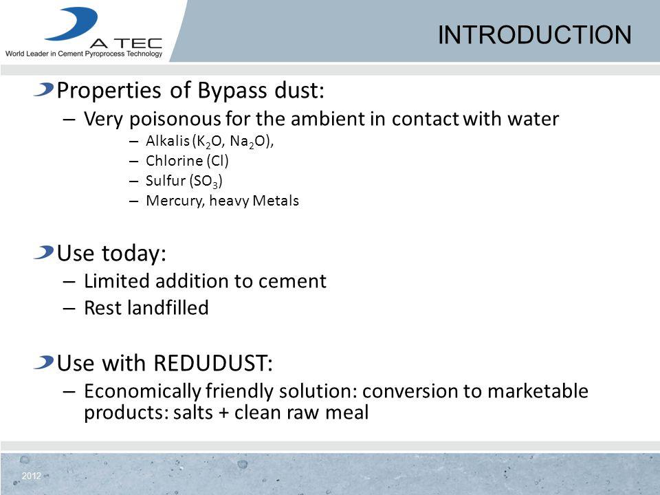 Properties of Bypass dust: