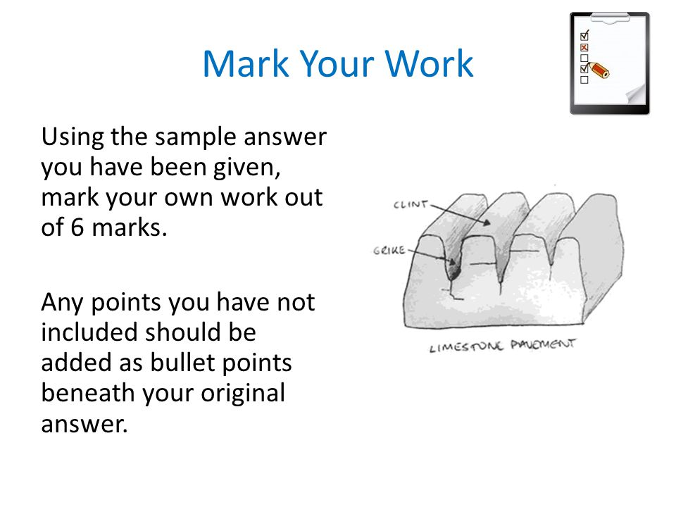 Mark Your Work