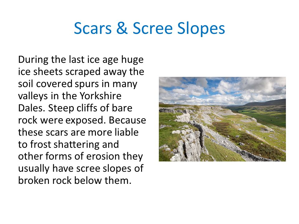 Scars & Scree Slopes