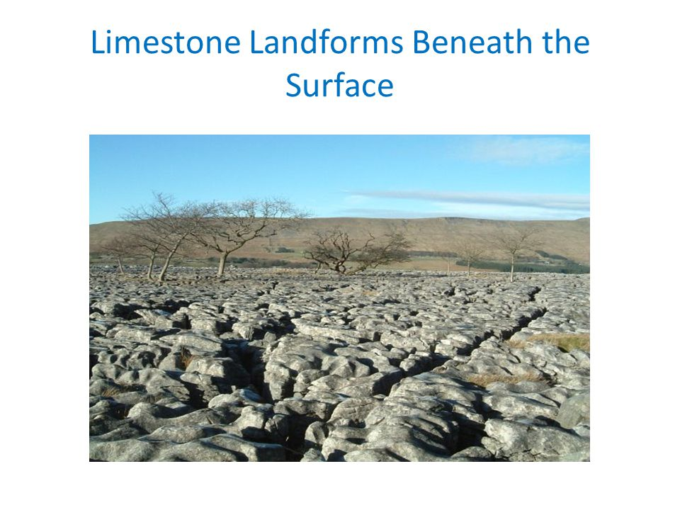 Limestone Landforms Beneath the Surface