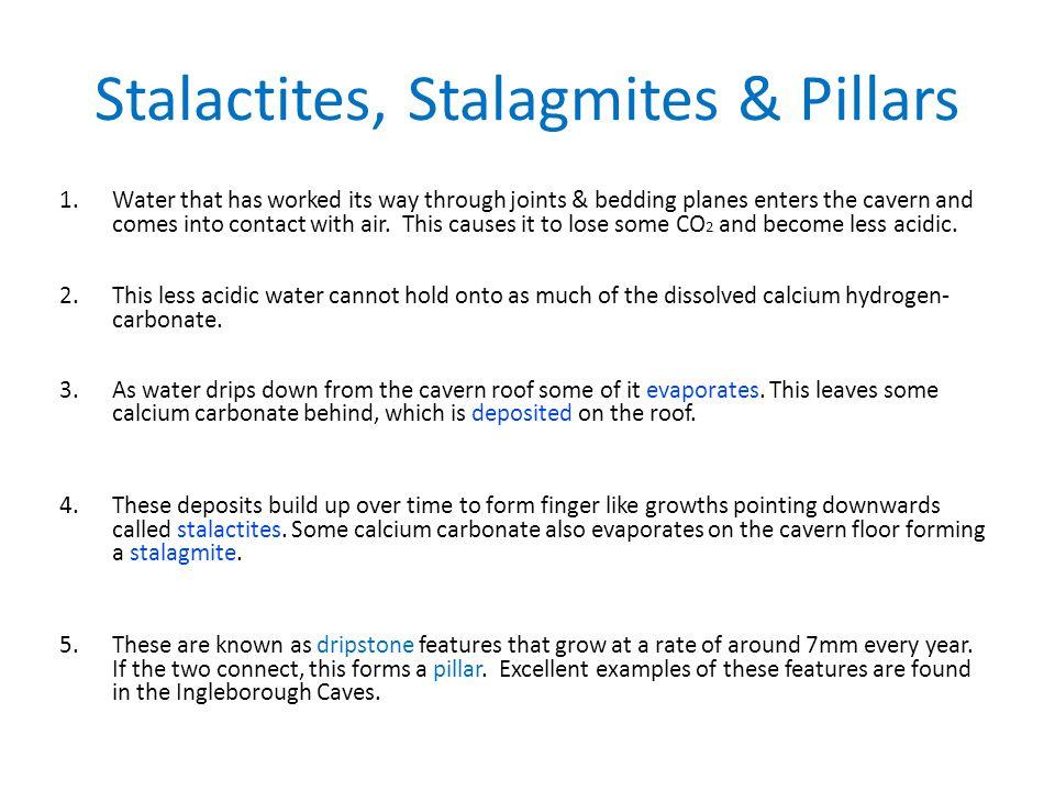 Stalactites, Stalagmites & Pillars