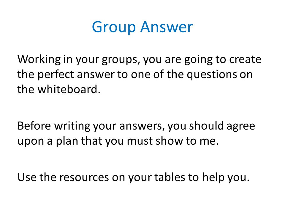 Group Answer