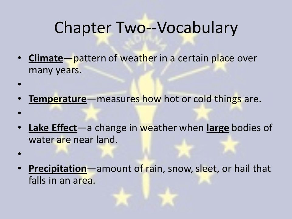Chapter Two--Vocabulary