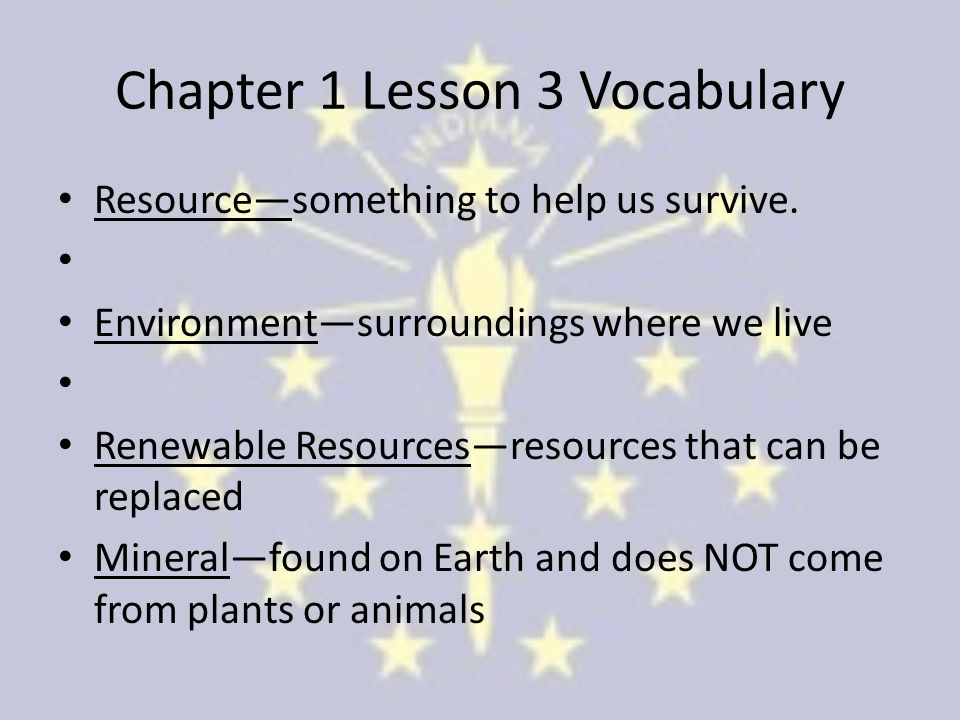 Chapter 1 Lesson 3 Vocabulary