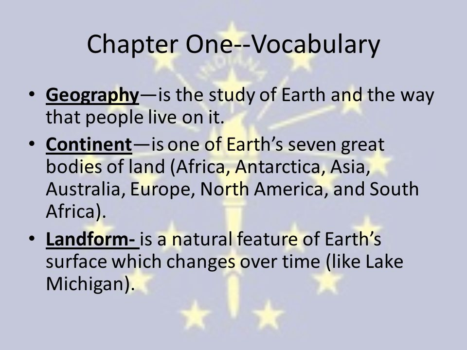 Chapter One--Vocabulary