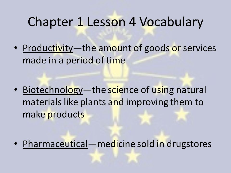 Chapter 1 Lesson 4 Vocabulary
