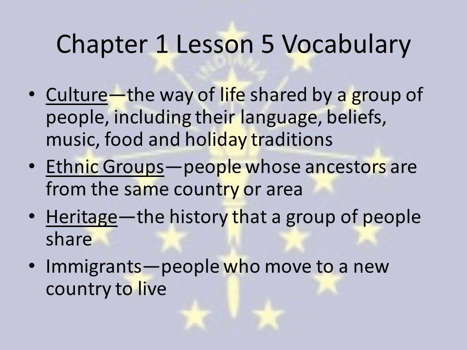 Chapter 1 Lesson 5 Vocabulary