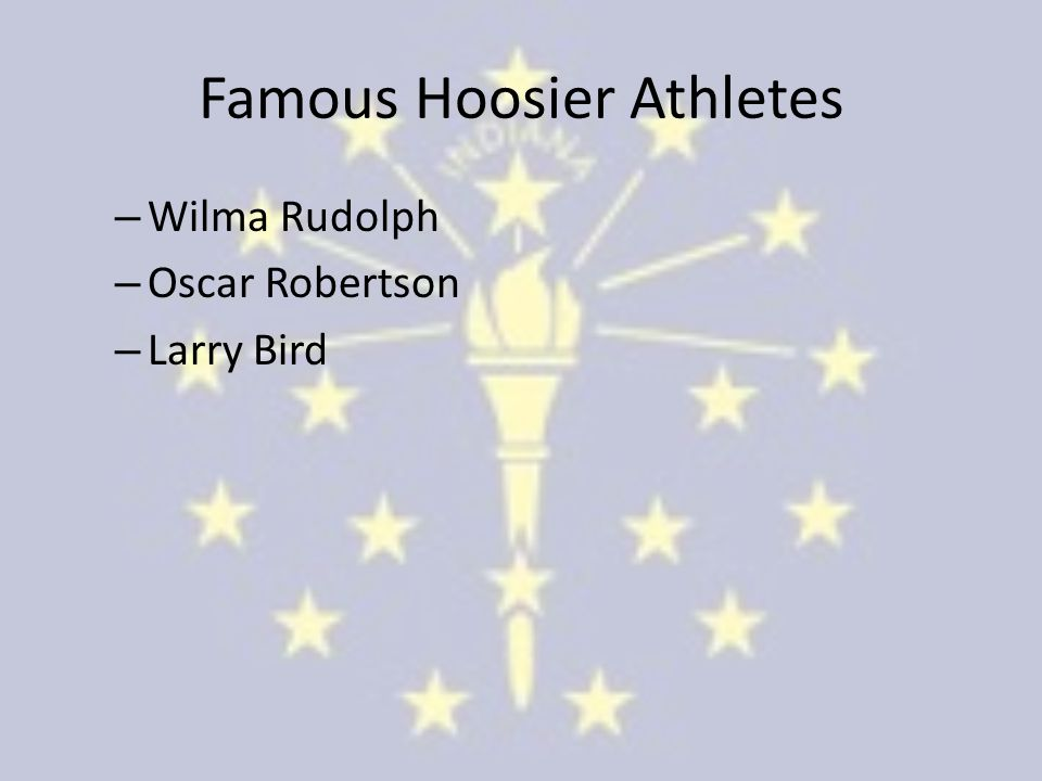 Famous Hoosier Athletes