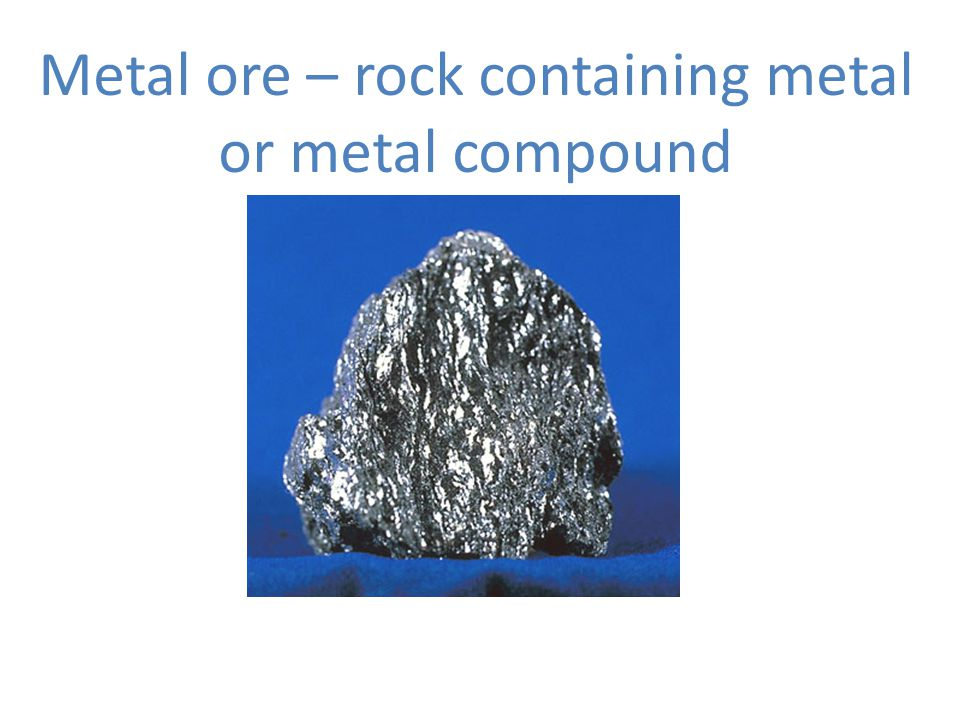 Metal ore – rock containing metal or metal compound