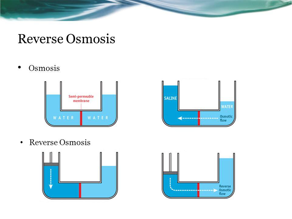 Reverse Osmosis Osmosis Reverse Osmosis