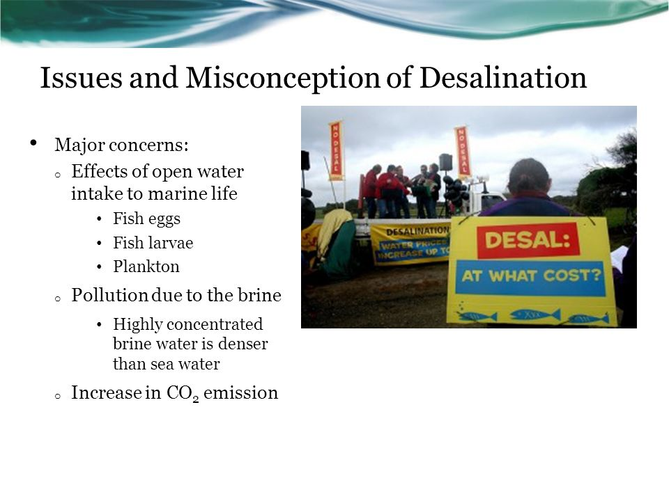 Issues and Misconception of Desalination