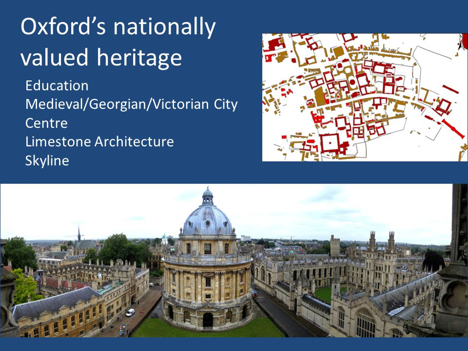 Oxford's nationally valued heritage