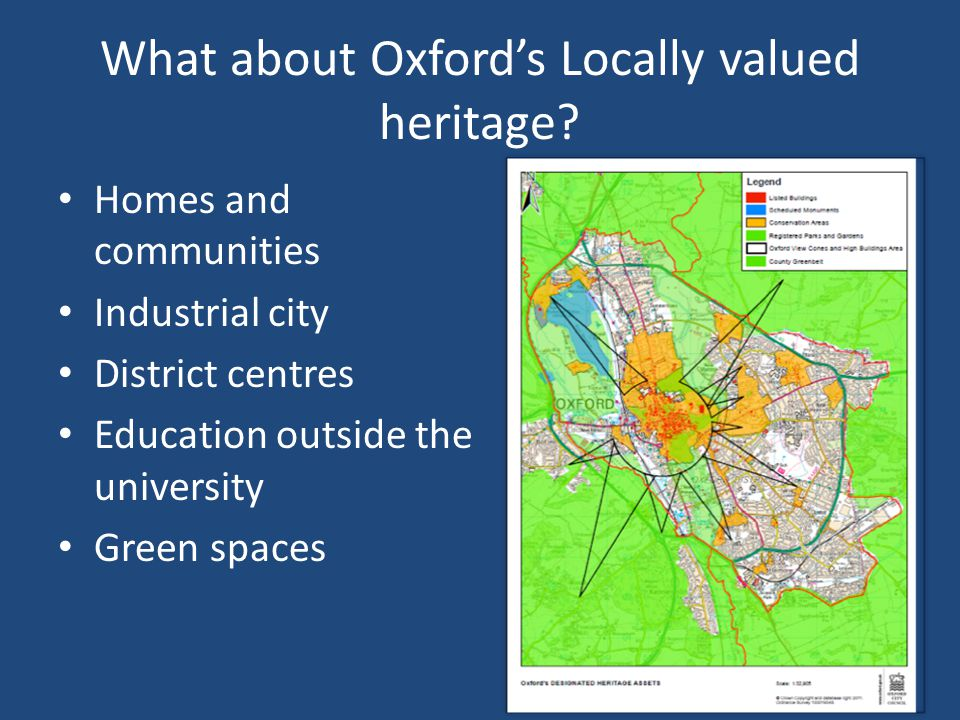 What about Oxford's Locally valued heritage