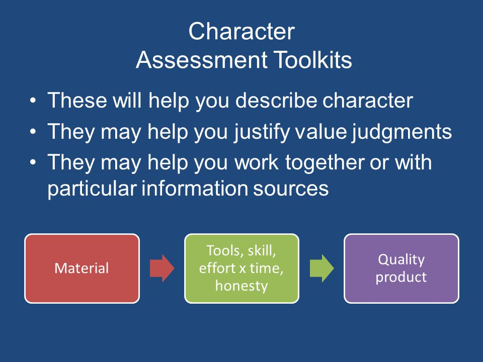 Character Assessment Toolkits