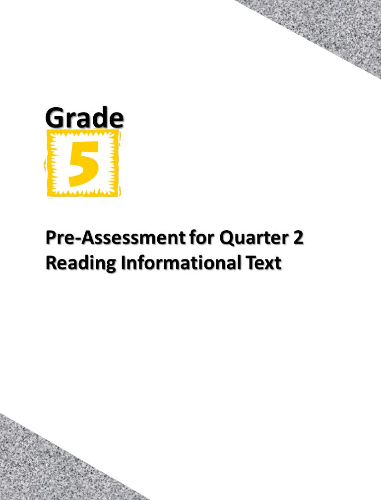 Pre-Assessment for Quarter 2