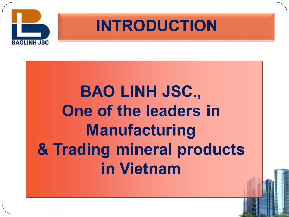 & Trading mineral products