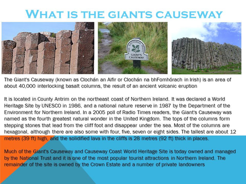 What is the giants causeway