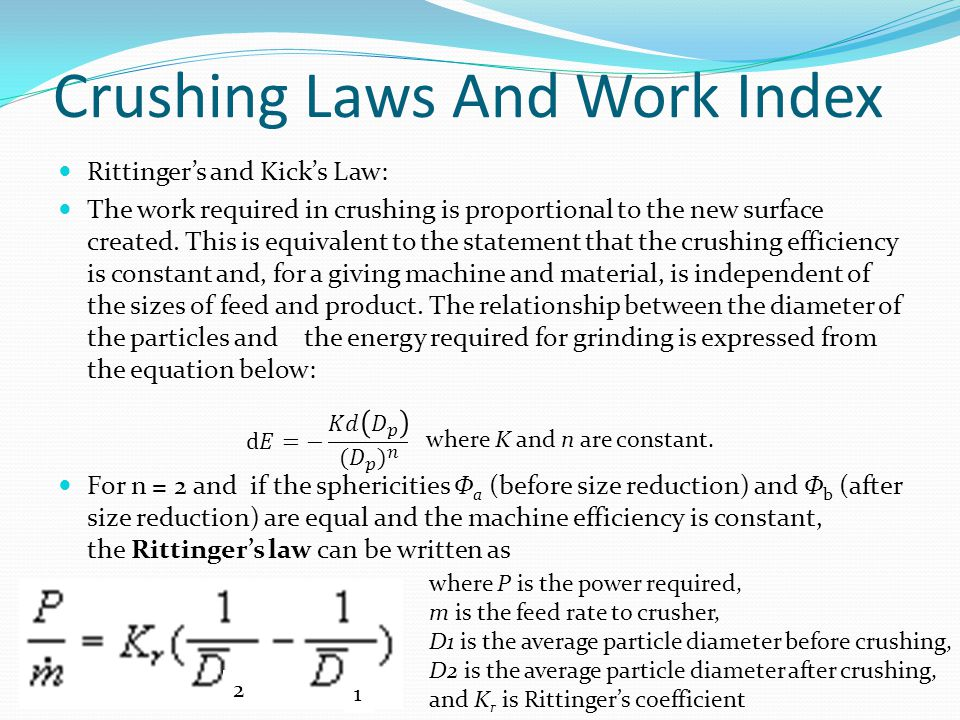 Crushing Laws And Work Index
