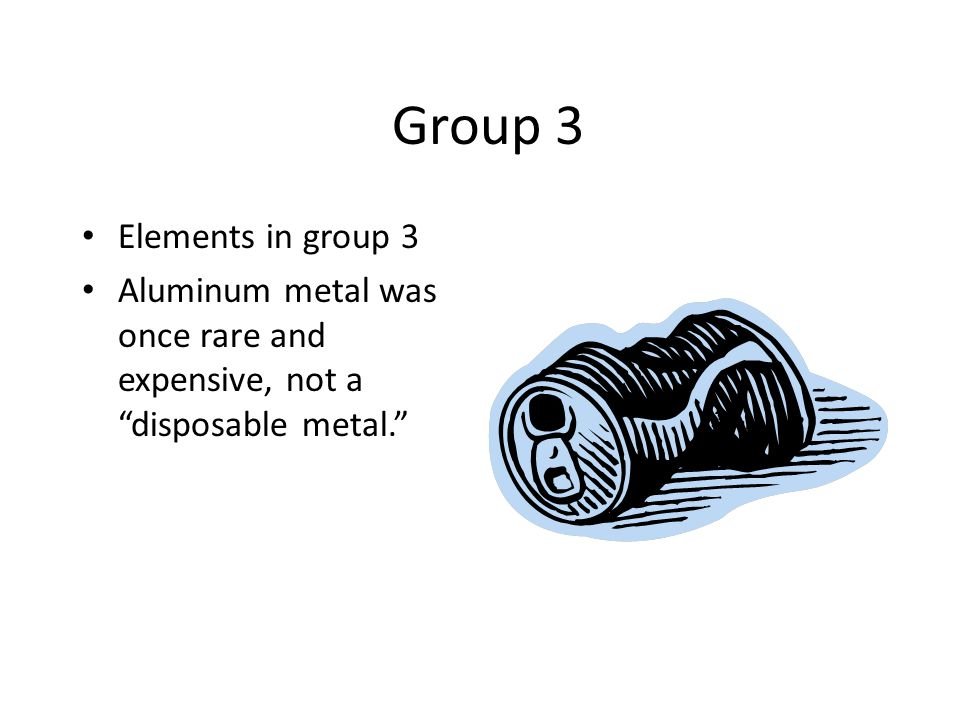 Group 3 Elements in group 3