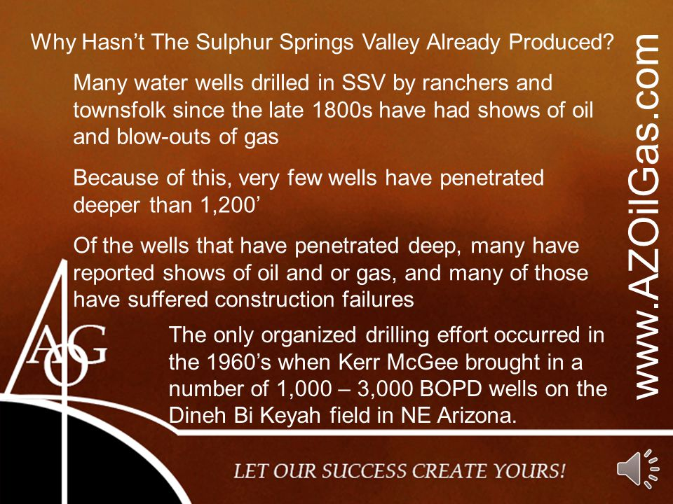 Why Hasn't The Sulphur Springs Valley Already Produced