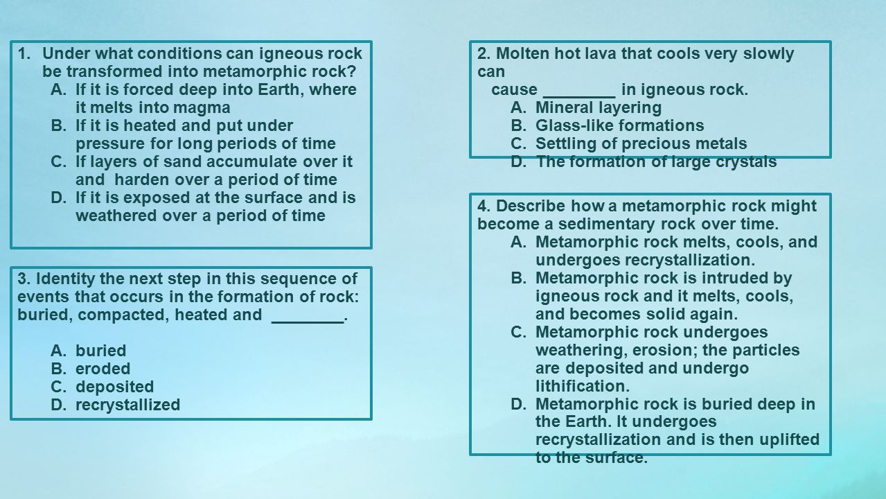 Under what conditions can igneous rock be transformed into metamorphic rock