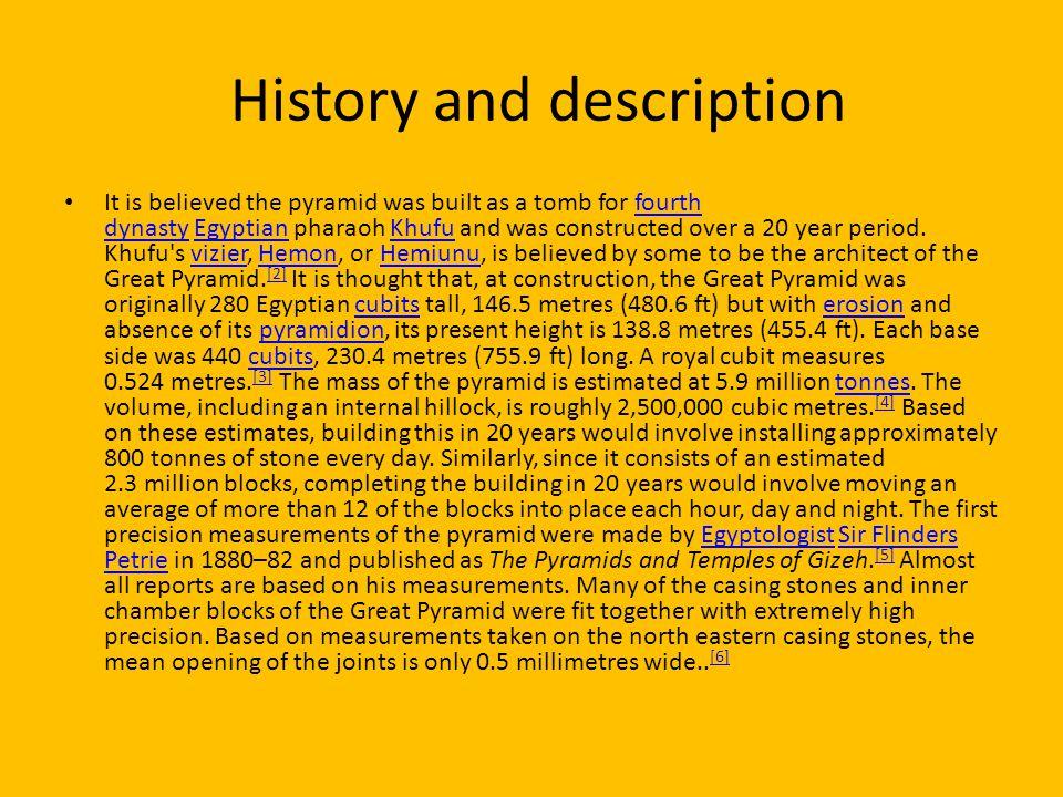 History and description
