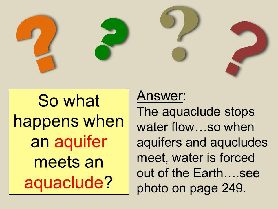 So what happens when an aquifer meets an aquaclude